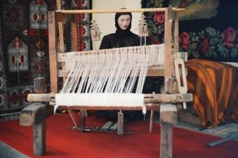 Traditional carpet making