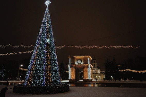 National Square in winter