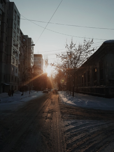 Winter early morning