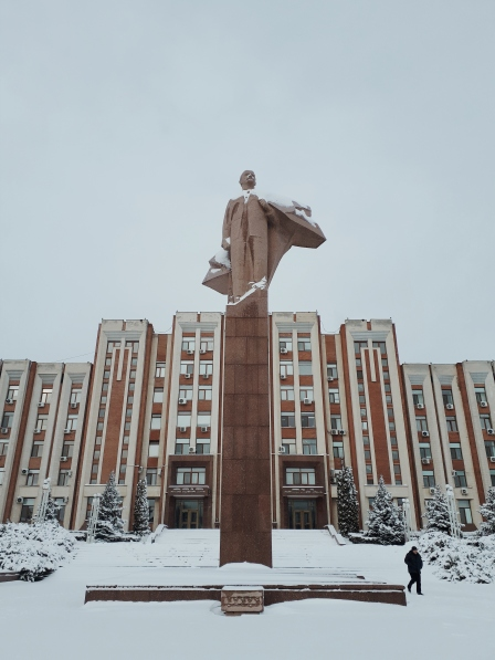 Lenin in snow