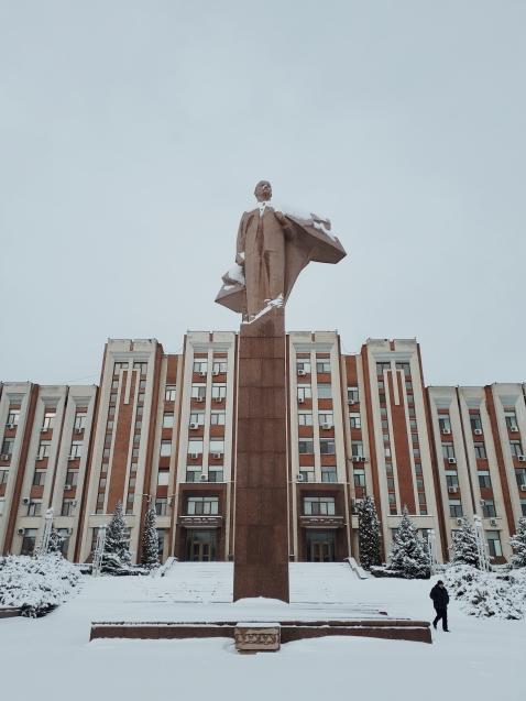 Lenin in snow